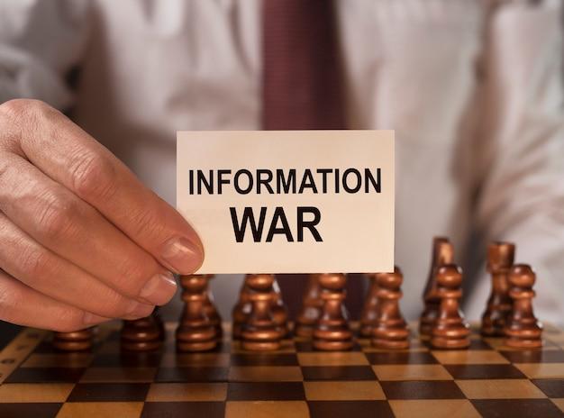 Informatie oorlog oorlogsvoering woord iw in politiek concept