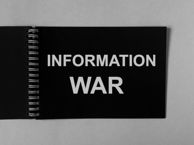 Informatie oorlog oorlogsvoering woord op papier iw concept