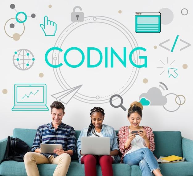 Informatietechnologie codering verbinding programmeren