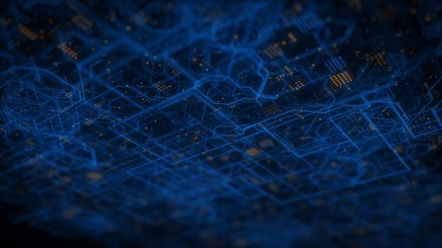 Informatietechnologie internet systeem hud metrolijnen abstracte techno achtergrond