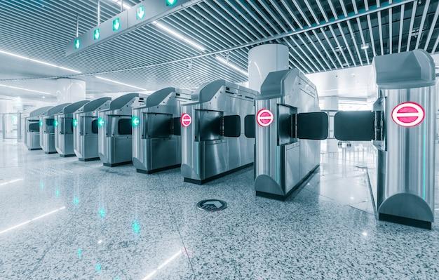 Ingang van metro station voor kreupele.