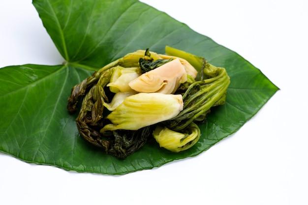 Ingelegde kool, mosterd groenen. thaise eetstijl