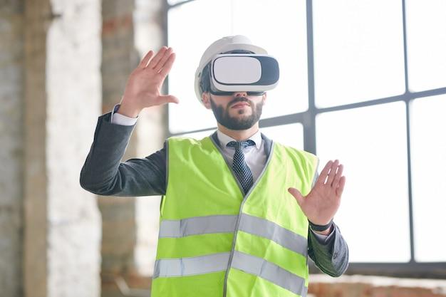 Ingenieur in virtual reality