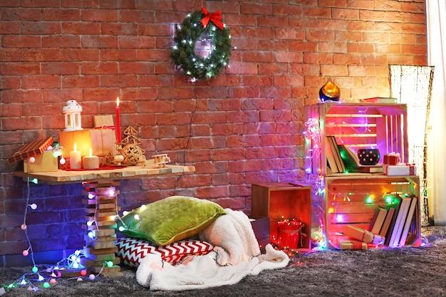 Ingerichte kerstkamer