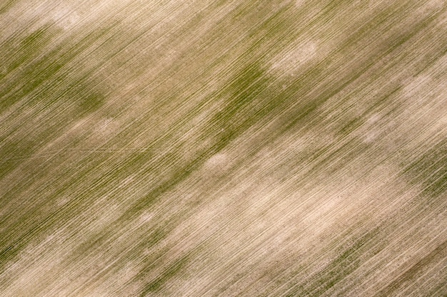 Ingezaaid landbouwgebied, van bovenaf bekijken