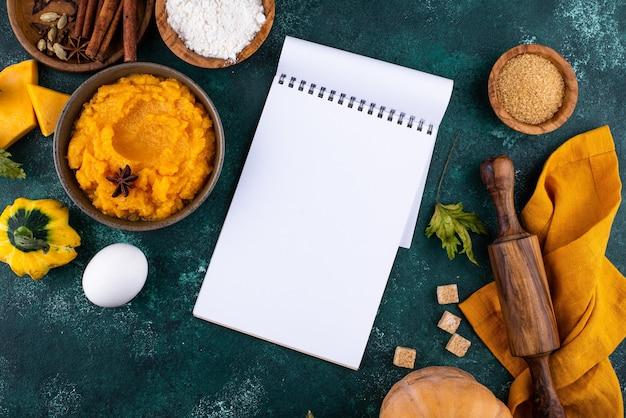 Ingrediënt voor het koken van pompoentaart