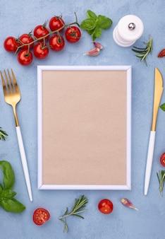 Ingrediënten met frame