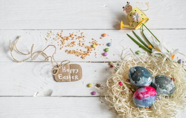 Ingrediënten pasen en chocolade-eieren