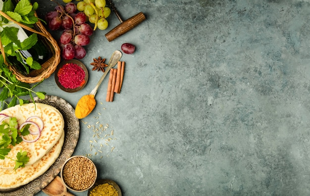 Ingrediënten uit het midden-oosten of arabische traditie