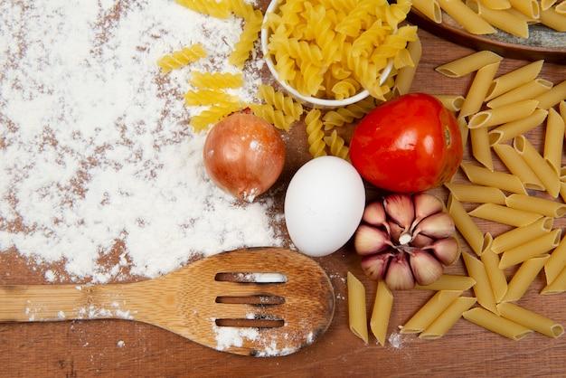 Ingrediënten van de italiaanse keuken