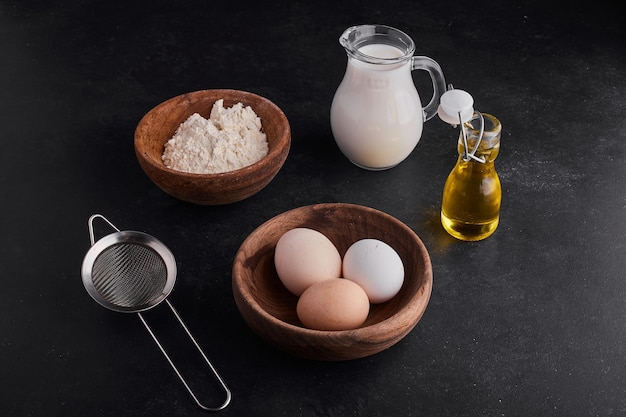 Ingrediënten voor bakkerij of banket.