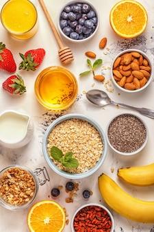 Ingrediënten voor een gezond ontbijt