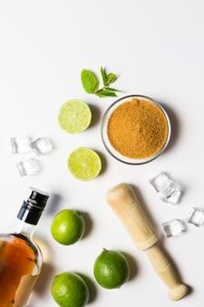 Ingrediënten voor een mojitococktail
