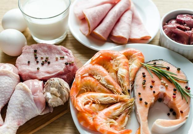 Ingrediënten voor eiwitdieet