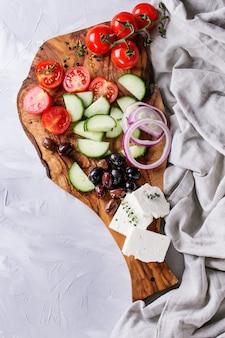 Ingrediënten voor griekse salade