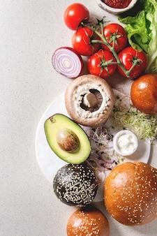 Ingrediënten voor hamburgers