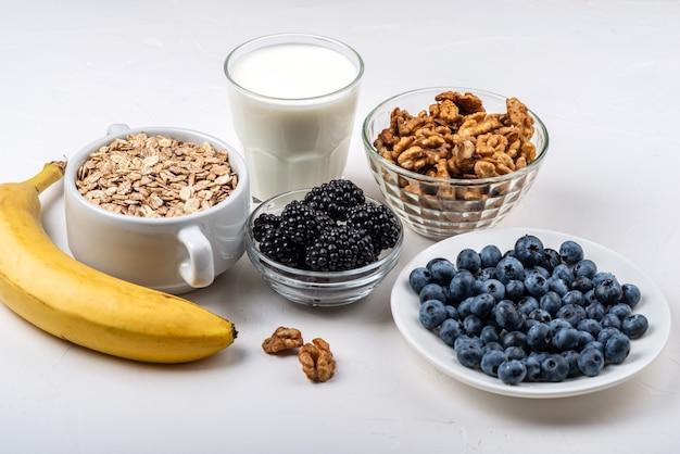 Ingrediënten voor het gezonde ontbijt