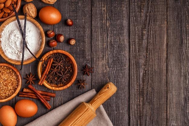 Ingrediënten voor het koken bakken.