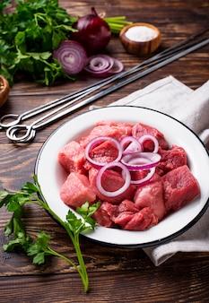 Ingrediënten voor het koken shish kebab