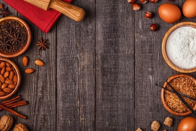 Ingrediënten voor het koken van bakken