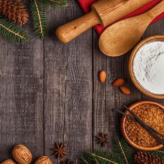 Ingrediënten voor het koken van kerstbakken