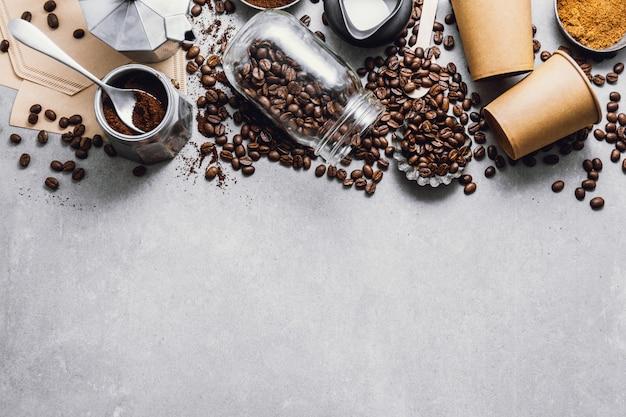 Ingrediënten voor het plat leggen van koffie