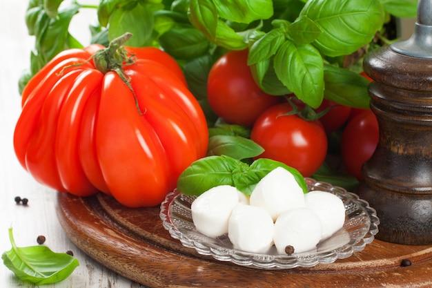 Ingrediënten voor italiaanse salade