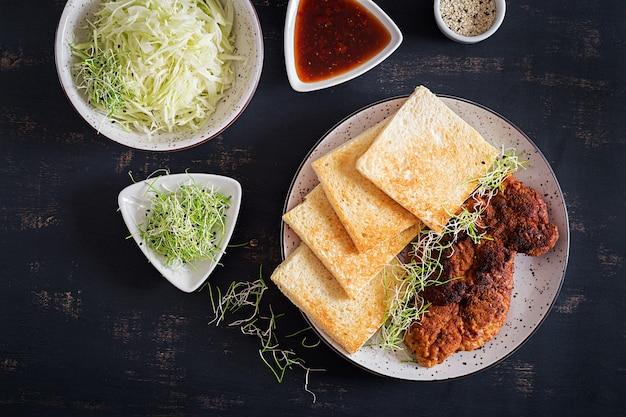 Ingrediënten voor katsu sando