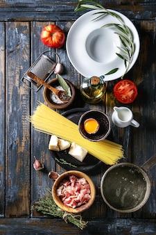 Ingrediënten voor pasta