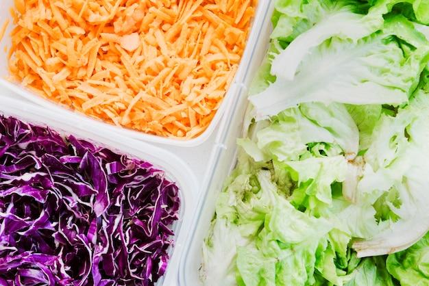 Ingredients van de salade