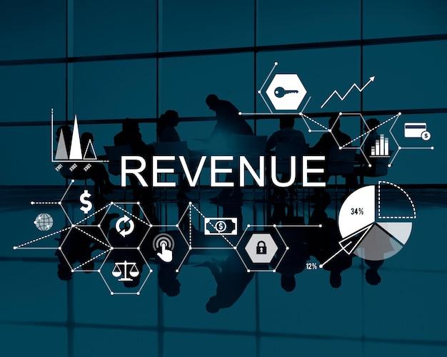 Inkomsten geld winst kosten budget bankieren concept