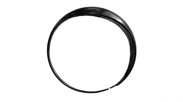 Inktolie splash cirkel rond frame met ruimte