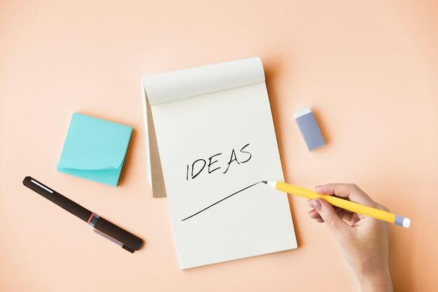 Innovatie-ideeën creatief ontwerpconcept