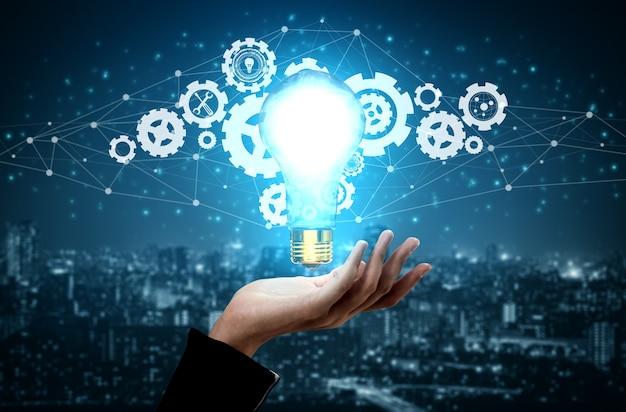 Innovatietechnologie voor bedrijfsfinanciënconcept.