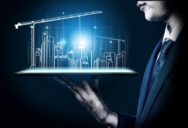 Innovatieve architectuur en engineering van gebouwen.