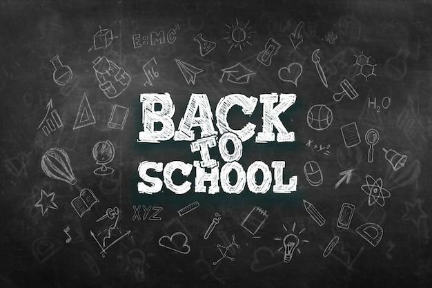 Inscriptie terug naar school, elementen van het onderwijs