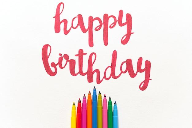 Inspirerend citaat 'gelukkige verjaardag' voor wenskaarten en posters.