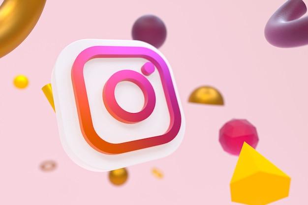 Instagram ig-logo met geometrische elementen