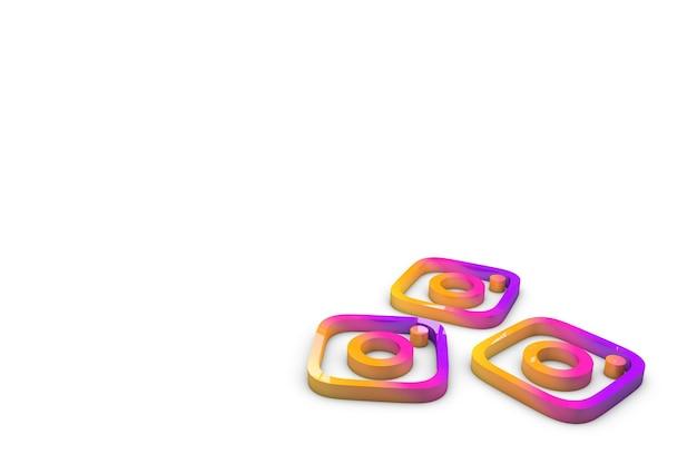 Instagram-logo in 3d illustratie