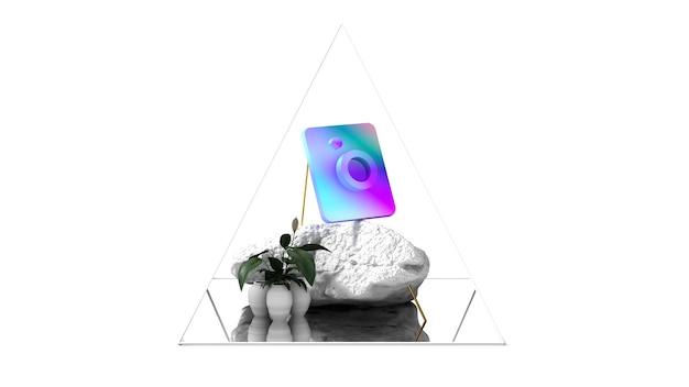 Instagram logo moderne samenstelling