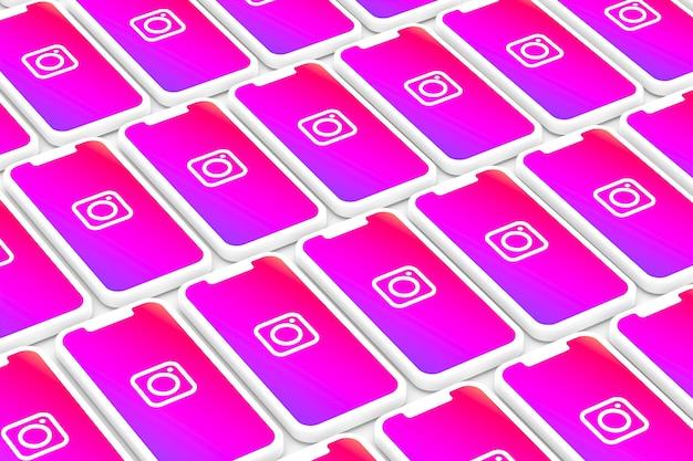 Instagram-logo op het smartphonescherm