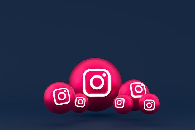 Instagram pictogrammenset weergave op blauwe achtergrond