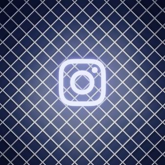 Instagram teken neon effect render