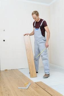 Installatie van een laminaatvloer