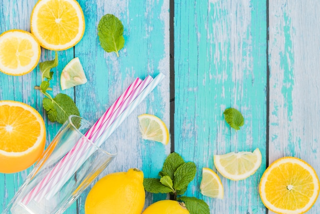 Instellen voor lemon mint drankje