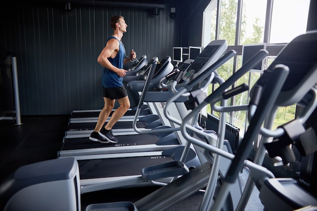 Intensieve training in het sportcentrum