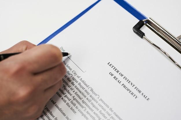 Intentieovereenkomst voor de verkoop van onroerend goed
