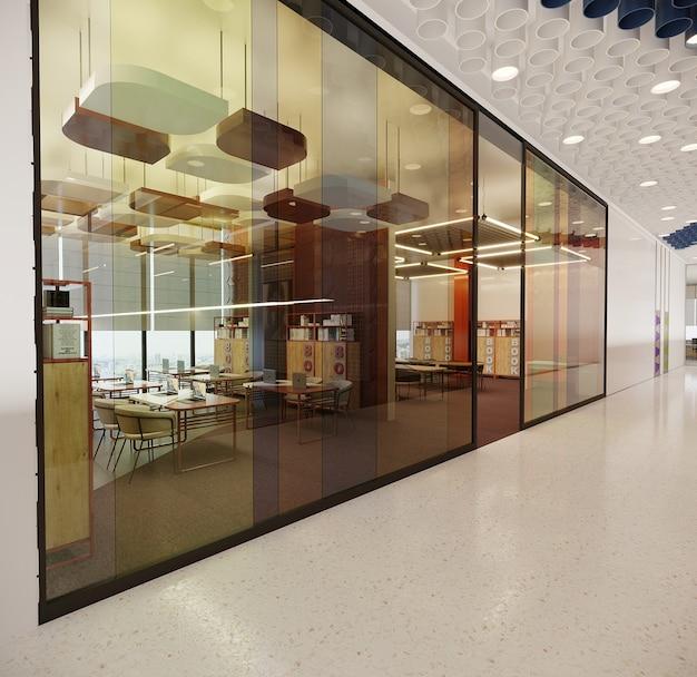 Interieur een kantoorontwerpgebouw, gratis