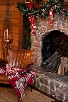 Interieur ingericht voor kerstmis