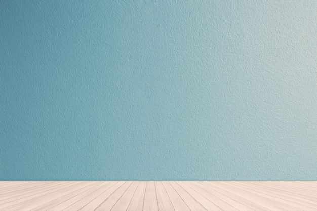 Interieur met blauwe pastel muur